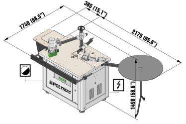 Полуавтоматический станок для установки Т-образной резиновой кромки ARTECH RUBBER