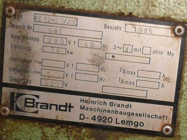 Кромкооблицовочный станок Brandt KE 12%2F20-200