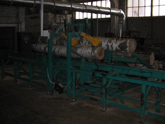 Станок для изготовления двухкантного бруса  «Гравитон-КЛБ-Ш»